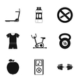 Active lifestyle icons set simple style vector image vector image