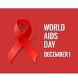 AIDS Awareness Ribbon vector image vector image