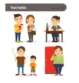 Bad habits Drunkenness and overeating vector image vector image