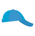 baseball cap on side icon flat style vector image vector image