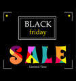 black horizontal banner with text sale vector image