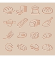bread icon set vector image vector image
