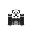 castle logo vector image vector image