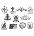 christian religion isolated icons set vector image