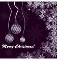Christmas background with balls and snowfakes vector image vector image