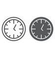 clock line and glyph icon time and dial watch vector image vector image