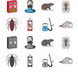 cockroach and equipment for disinfection cartoon vector image