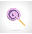 Confectionery flat icon Purple lollipop vector image vector image