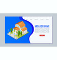 cottage rental concept with small georgian mansion vector image