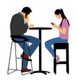 couple in love on date boyfriend and girlfriend vector image vector image