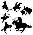 cowboys vector image