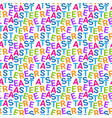 creative seamless pattern for easter holiday vector image