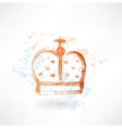 crown grunge icon vector image