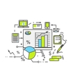 Data Analysis Icon Flat Design vector image vector image