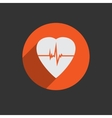 Defibrillator heart icon isolated on red vector image