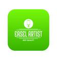 easel artist icon green vector image vector image