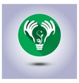 eco icon sticker vector image