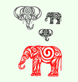 elephant ornate vector image vector image