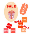 emblems for goods discounts vector image