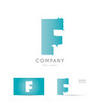 f blue letter alphabet logo icon design vector image vector image