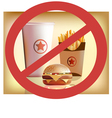 Fastfood harm for health vector image vector image