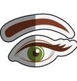 Female eye cartoon design vector image vector image