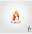 fire fox logo template vector image