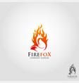 fire fox logo template vector image vector image