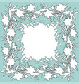 floral square ornament border with hand drawn vector image
