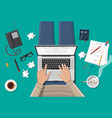 freelance writer or journalist workplace vector image vector image