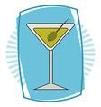 fresh cocktail vector image