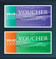 gift voucher template with modern flat pattern vector image vector image