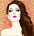 Girl with beautiful haircut vector image vector image