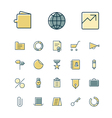 icons thin blue business money vector image vector image