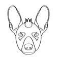 isolated xoloitzcuintle avatar vector image vector image