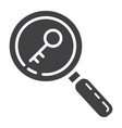 keyword research glyph icon seo and development vector image vector image
