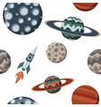 kid space with planets and spaceships flat vector image vector image