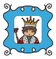 king doodle style vector image vector image