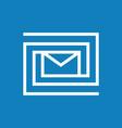 labyrinth mail logo vector image