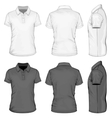 Mens short sleeve polo-shirt design templates