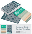 modern business cards template vector image