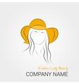 Modern woman in summer orange hat vector image vector image