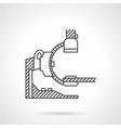 MRI machine line icon vector image vector image