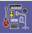 Music production icons vector image