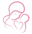 Pink motherly love vector image