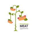 plant based vegetarian hot dog tree beyond meat vector image