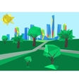 polygonal cityscape park vector image vector image