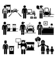 poor low class jobs occupations careers - toll vector image