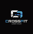 printcrossfit sport logo sign symbol icon vector image
