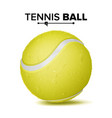 realistic tennis ball classic round yellow vector image